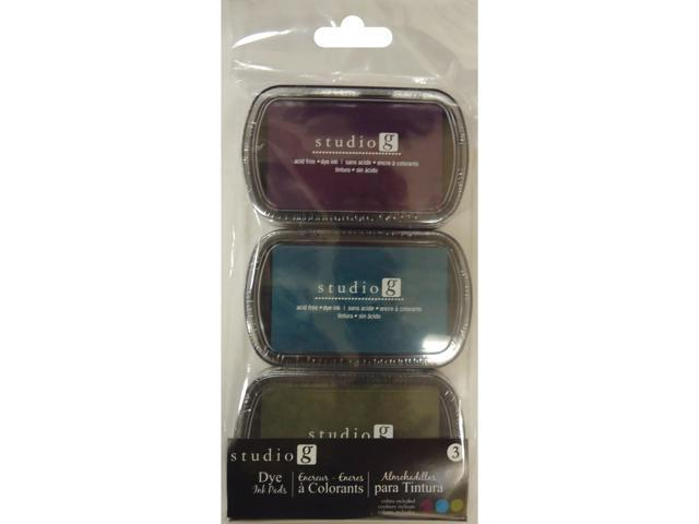 Dye Ink Pads 3pk-Eclectic