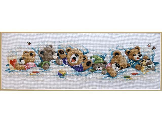 Sleepy Bears Counted Cross Stitch Kit-19