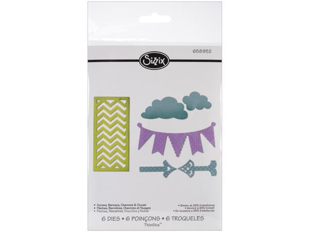 Sizzix Thinlits Die-Arrows; Banners; Chevrons; Clouds