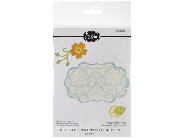 Sizzix Thinlits Die-Fancy Label & Flowers