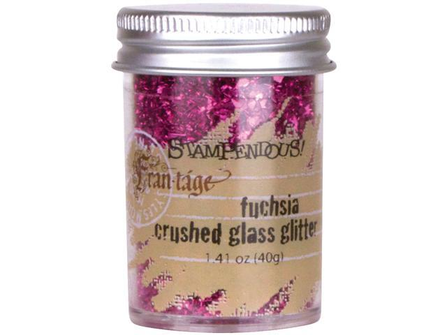 Stampendous Glass Glitter 1 Ounce-Fuchsia