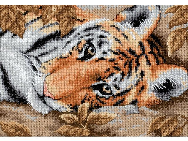 Gold Collection Petite Beguiling Tiger Counted Cross Stitch -7