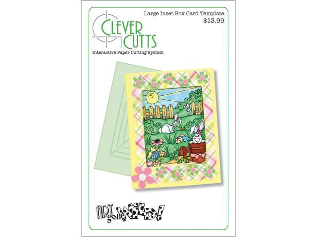 Clever Cuts Plastic Template-Large Inset Box