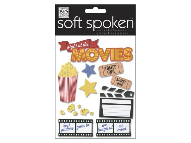 Soft Spoken Themed Embellishments-Night At The Movies