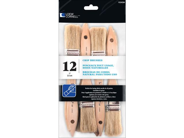 Chip Brushes 12/Pkg-1 Inch