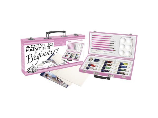 Pink Art For Beginners Artist Set-Acrylic Painting