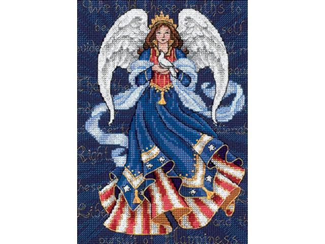 Gold Collection Petite Patriotic Angel Counted Cross Stitch -5