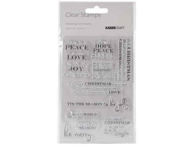 Christmas Clear Stamps 6.25