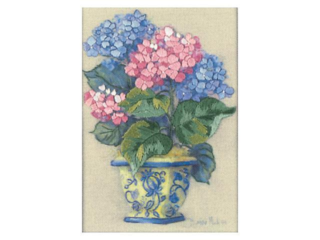 Jiffy Colorful Hydrangea Mini Crewel Kit-5