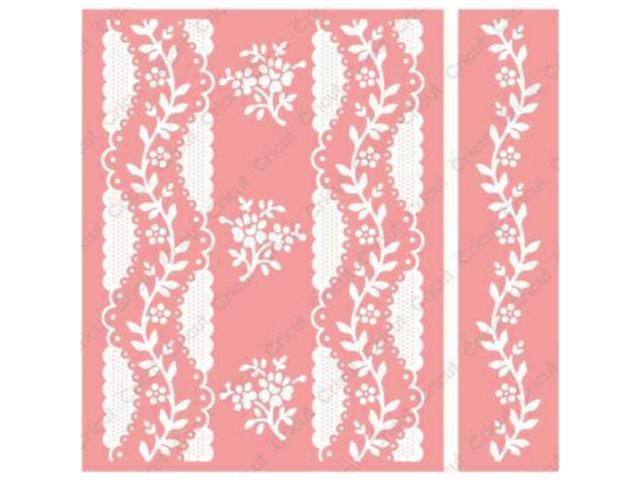 Cuttlebug A2 Embossing Folder/Border Set-Anna Griffin Organdy Stripe