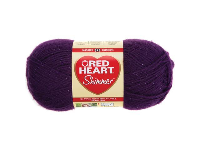 Red Heart Shimmer Yarn-Plum