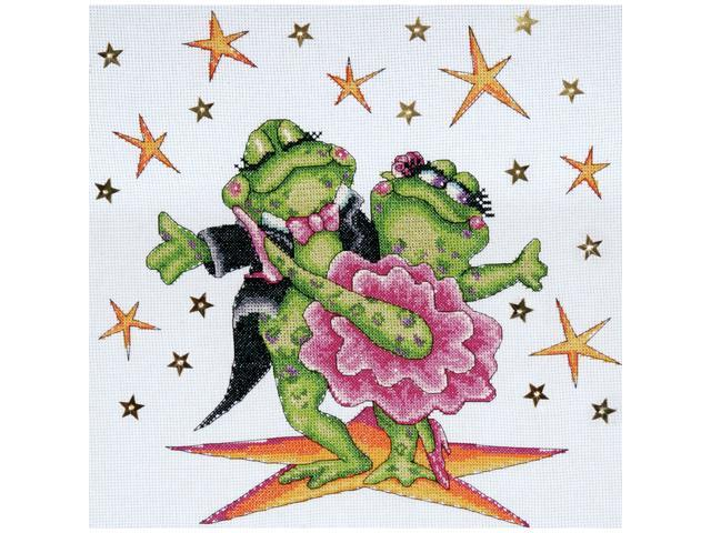 Dancing Frogs Counted Cross Stitch Kit-12