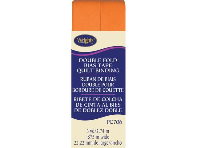 "Double Fold Quilt Binding 7/8"" 3 Yards-Orange Peel"