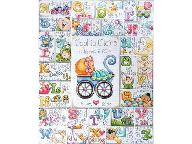 Baby ABC Counted Cross Stitch Kit-16