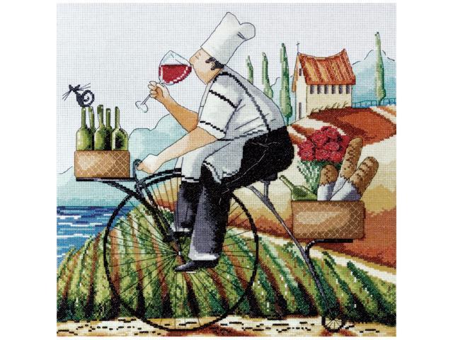 Fine Wine Counted Cross Stitch Kit-14
