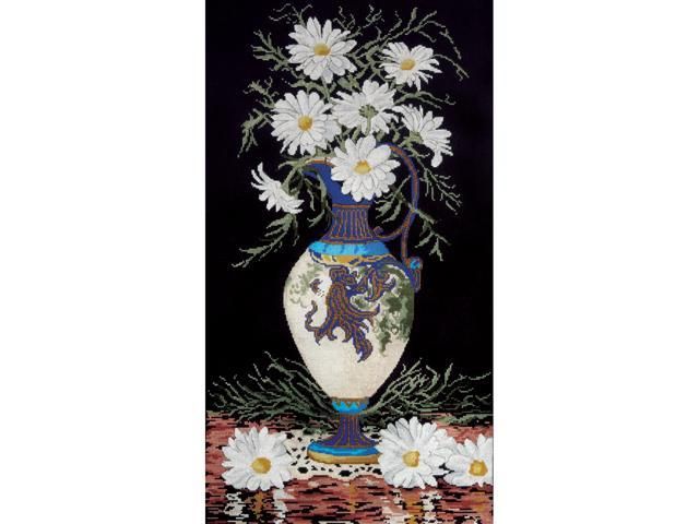 Daisies In Vase Counted Cross Stitch Kit-13