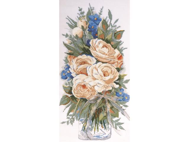 White Roses Counted Cross Stitch Kit-11