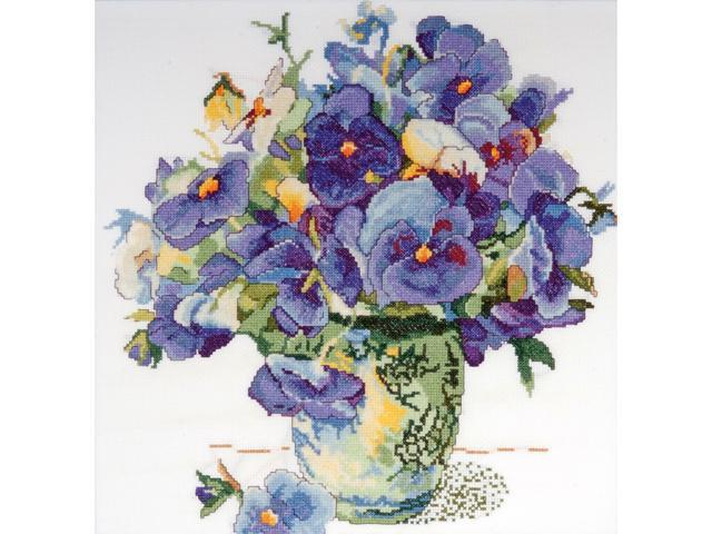 Pansy Floral Counted Cross Stitch Kit-14