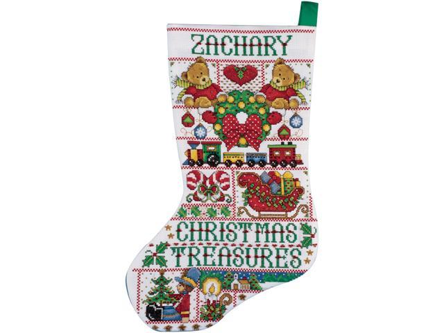 Christmas Treasures Stocking Counted Cross Stitch Kit-17