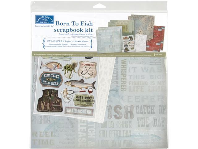 Born To Fish Scrapbook Page Kit 12