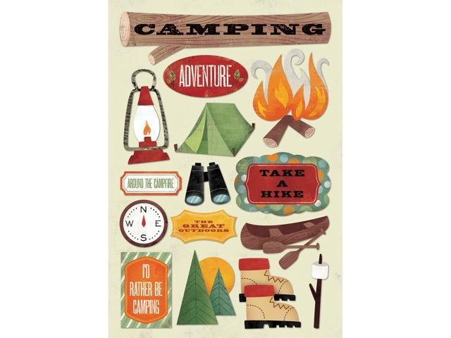 Outdoors/Camping Cardstock Stickers 5.5