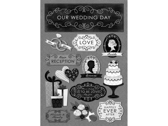 Wedding Cardstock Stickers 5.5