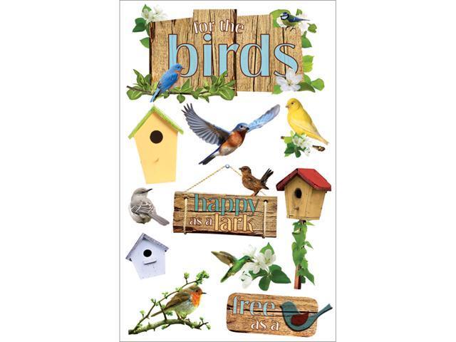 Paper House 3-D Sticker-Birds