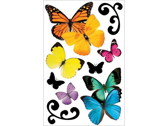 Paper House 3-D Sticker-Butterflies