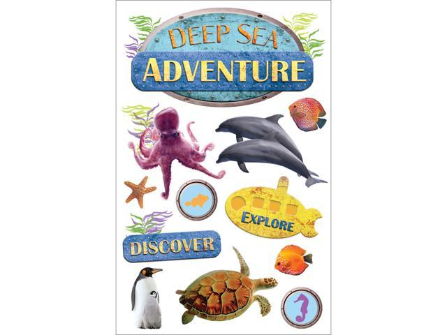 Paper House 3-D Sticker-Sea Adventure