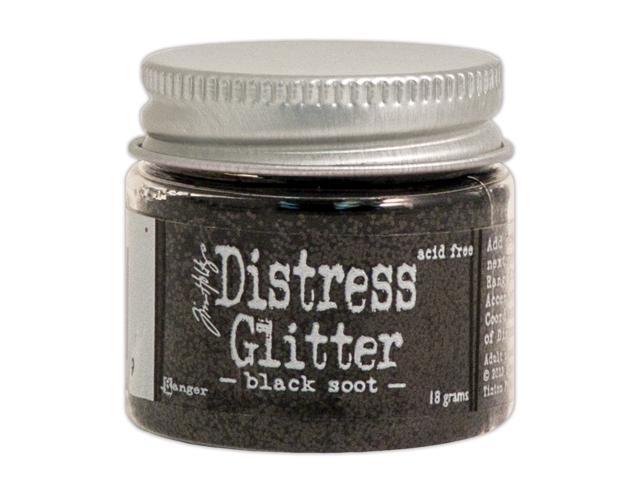 Tim Holtz Distress Glitter 1 Ounce-Black Soot
