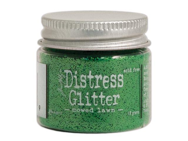 Tim Holtz Distress Glitter 1 Ounce-Mowed Lawn