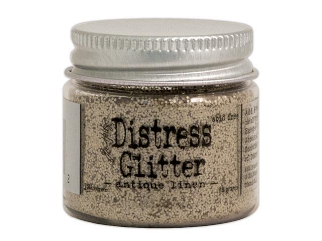 Tim Holtz Distress Glitter 1 Ounce-Antique Linen