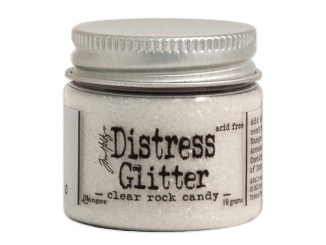 Tim Holtz Distress Glitter 1 Ounce-Clear Rock Candy