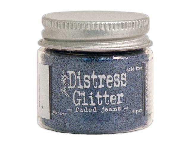 Tim Holtz Distress Glitter 1 Ounce-Faded Jeans