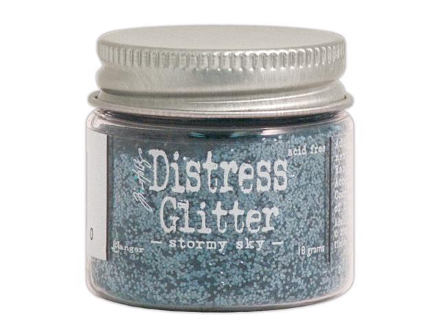 Tim Holtz Distress Glitter 1 Ounce-Stormy Sky