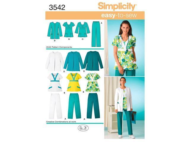 SIMPLICITY MISSES  WOMEN'S SCRUB PANTS,-10 12 14 16 18