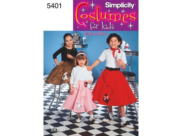 SIMPLICITY CHILD'S AND GIRLS' POODLE SKI-3,4,5,6