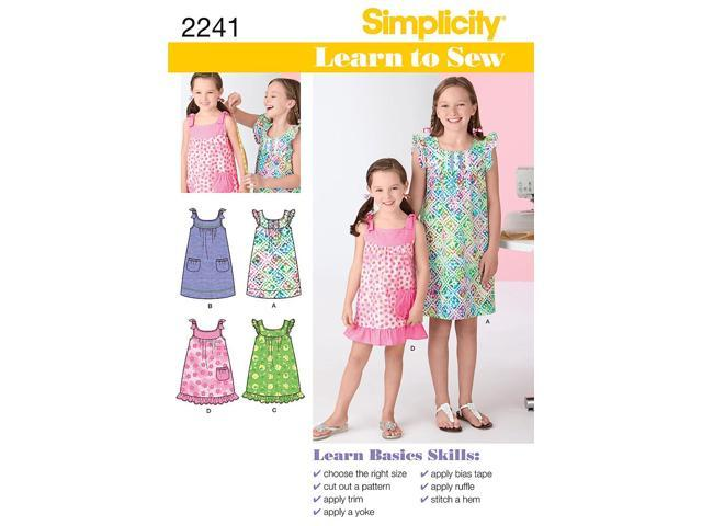 SIMPLICITY CHILD GIRL DRESSES-3-4-5-6
