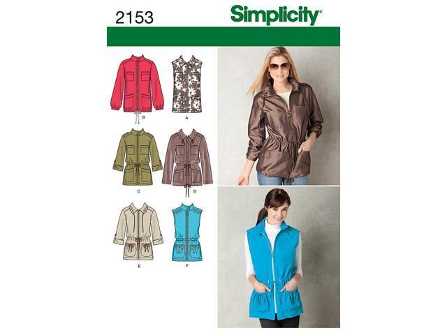SIMPLICITY MISSES JACKETS COATS-6-8-10-12-14