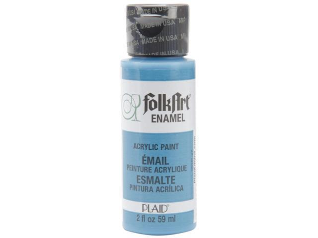 Folk Art Enamel Paint 2 Ounces-Cayman Blue