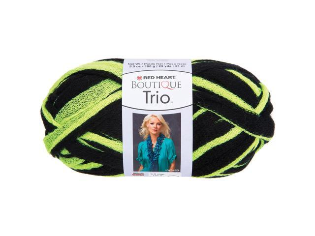 Red Heart Boutique Trio Yarn-Neon Yellow