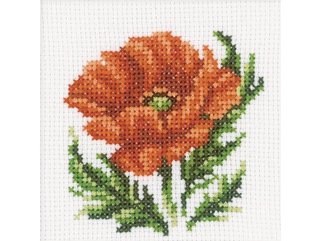 Poppy Flower Counted Cross Stitch Kit-4