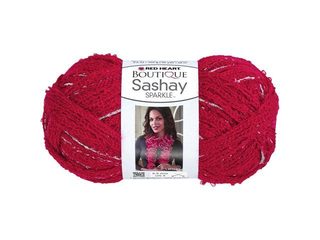 Red Heart Boutique Sashay Sparkle Yarn-Red Hot