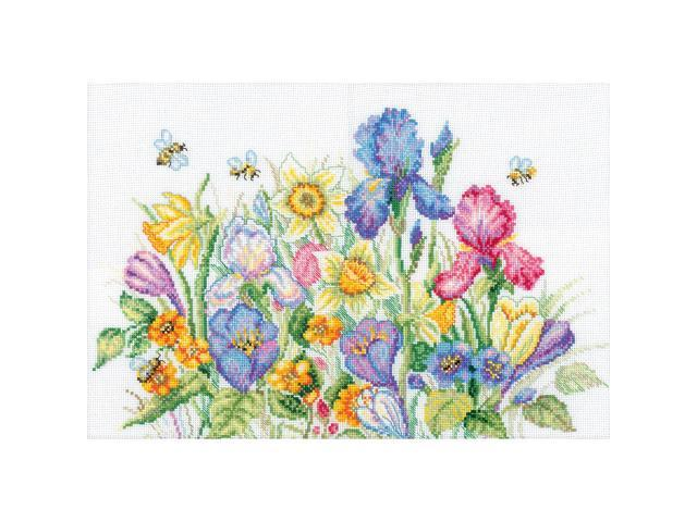 Garden Flowers Counted Cross Stitch Kit-13-3/4