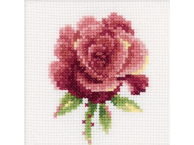 Red Rose Counted Cross Stitch Kit-4