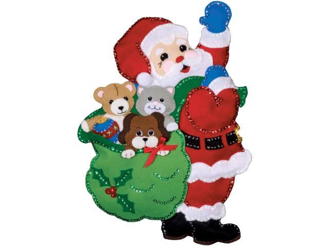 Santa And Friends Wall Hanging Felt Applique Kit-13