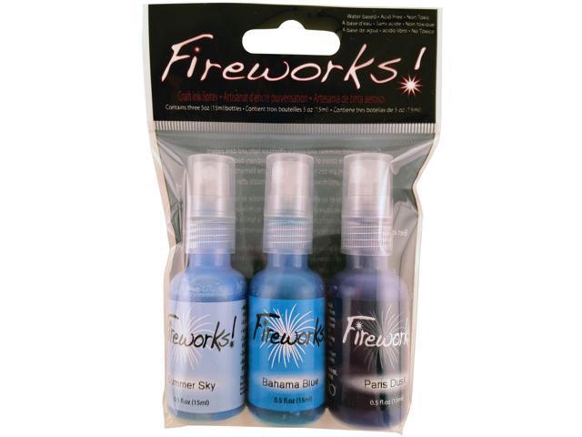Fireworks Spray 3/Pkg-Ocean