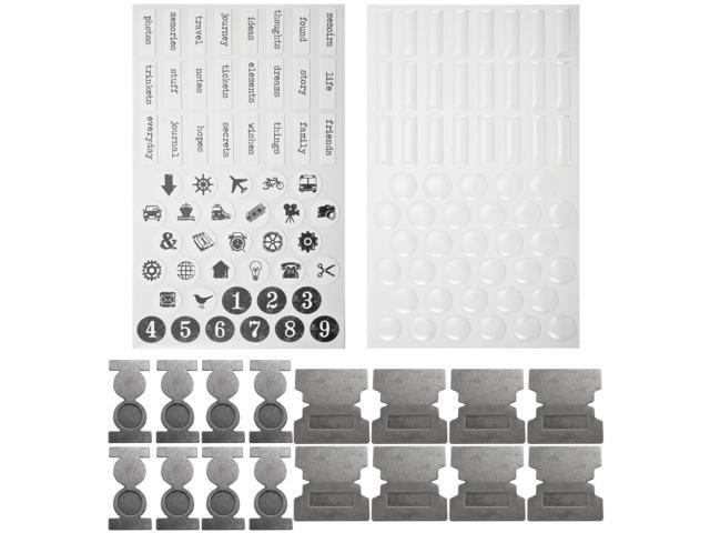 Idea-Ology Metal File Tabs With Stickers-16 Tabs/57 Stickers