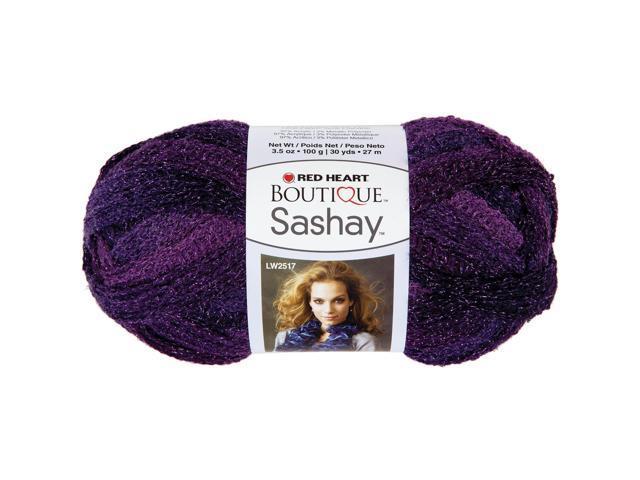 Red Heart Boutique Sashay Metallic Yarn-Amethyst