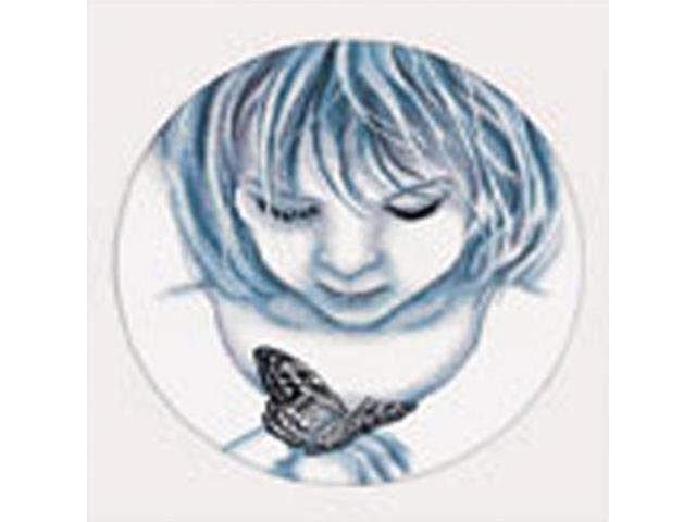 Girl With Butterfly Counted Cross Stitch Kit-12-1/2